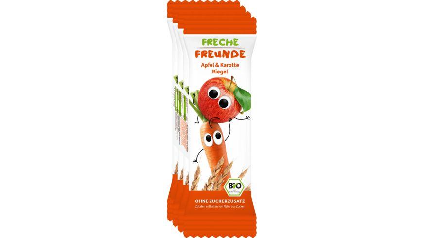 Freche Freunde Bio Getreideriegel Apfel Karotte 4er Pack