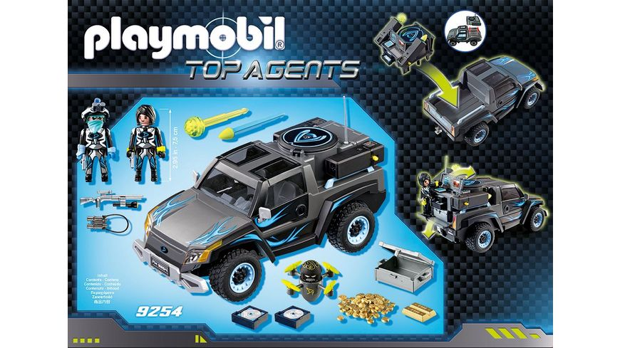PLAYMOBIL 9254 Top Agents Dr Drone Pick up