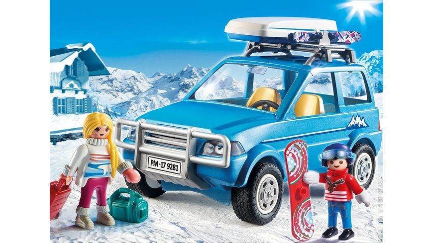 PLAYMOBIL 9281 Family Fun Auto mit Dachbox