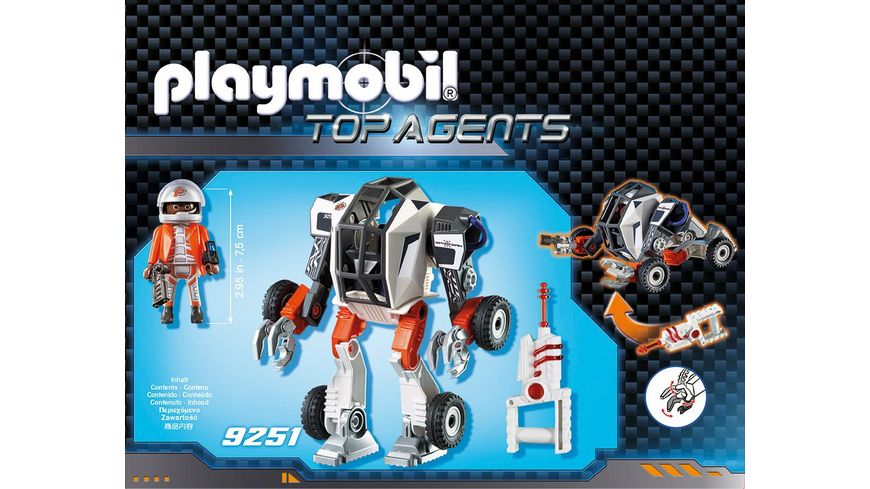 PLAYMOBIL 9251 Top Agents Agent T E C s Mech