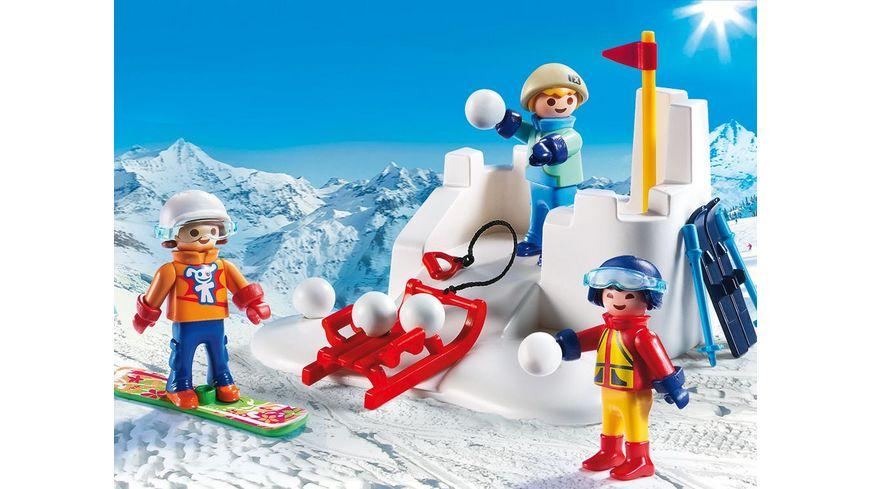 PLAYMOBIL 9283 Family Fun Schneeballschlacht