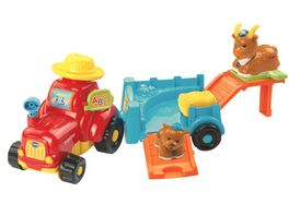 VTech Tip Tap Baby Tiere Traktor mit Anhaenger