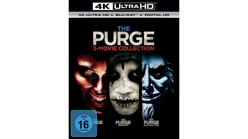 The Purge Trilogy 3 4K Ultra HD 3 Blu ray 2D