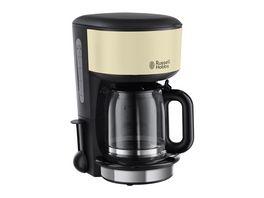 Rusell Hobbs Glas Kaffeemaschine Colours Plus Classic Cream