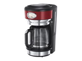 Russell Hobbs Glas Kaffeemaschine Retro Ribbon Red