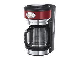 Russell Hobbs Glas Kaffeemaschine Retro Ribbon Red