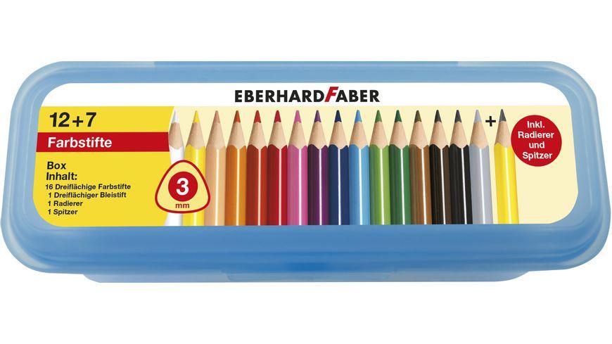 EBERHARD FABER Buntstifte dreikant hf 19tlg Box