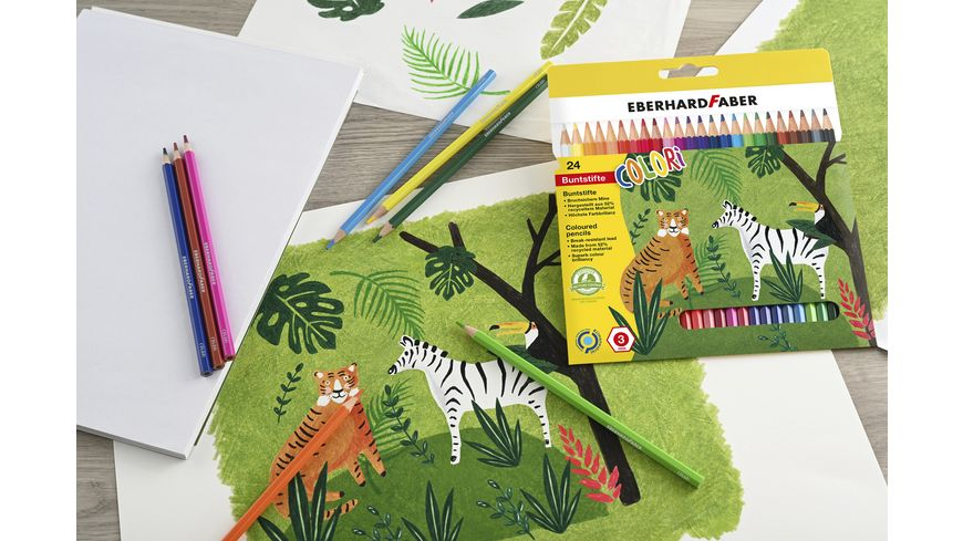 EBERHARD FABER Buntstift hexagonal 24er Etui