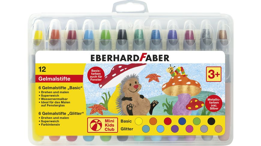 EBERHARD FABER Gelmalstifte 12er Etui Basic Metallic