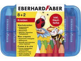 EBERHARD FABER Wachsmalkreiden dreiflaechig 8 2 Plastikbox