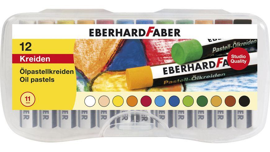 EBERHARD FABER Oelpastellkreide 12er Plastikbox