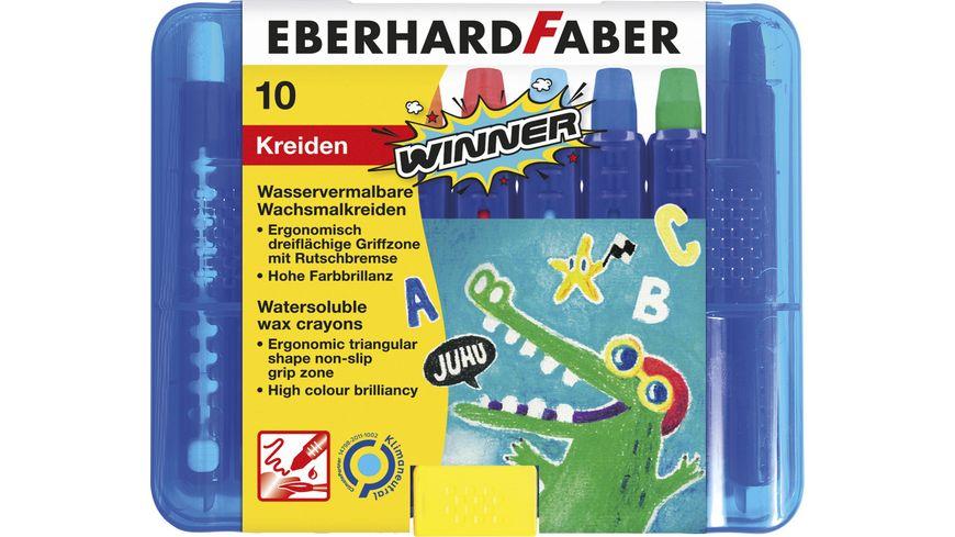 EBERHARD FABER Wachsmalkreide 10er Kunststoffbox