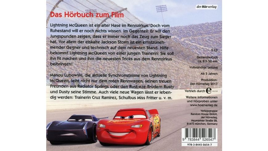 Cars 3 Original Hoerbuch z Kinofilm Evolution