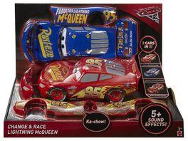Mattel Disney Cars 3 3 in 1 Rennfahrzeug Lightning