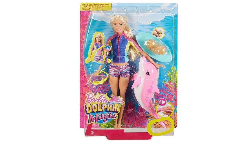 Mattel Barbie Magie der Delfine Barbie und tierische Freunde