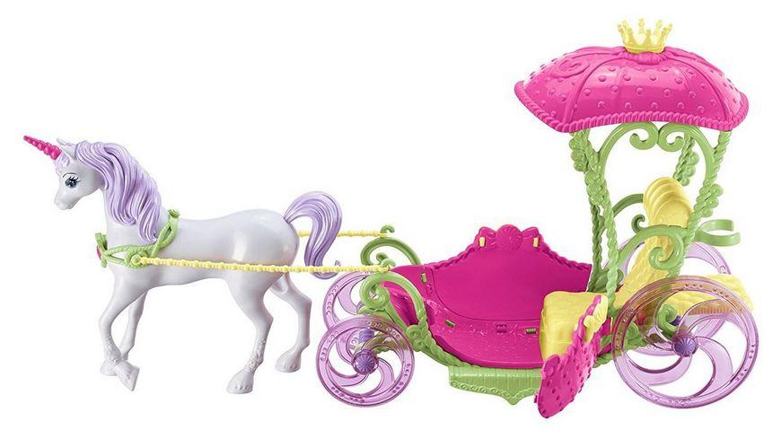 Mattel Barbie Bonbon Prinzessin Einhorn und Kutsche