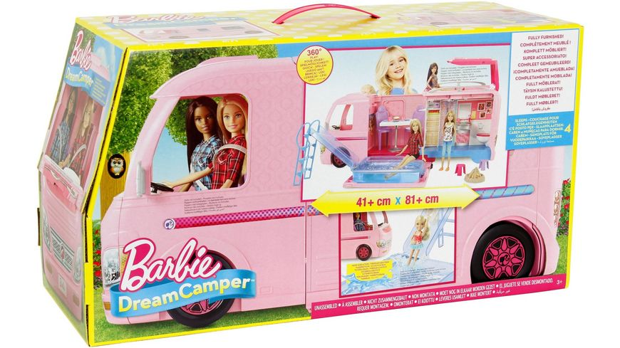 mattel barbie super abenteuer camper online bestellen. Black Bedroom Furniture Sets. Home Design Ideas
