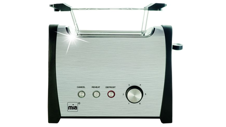 mia Doppelschlitz Toaster Cool Touch