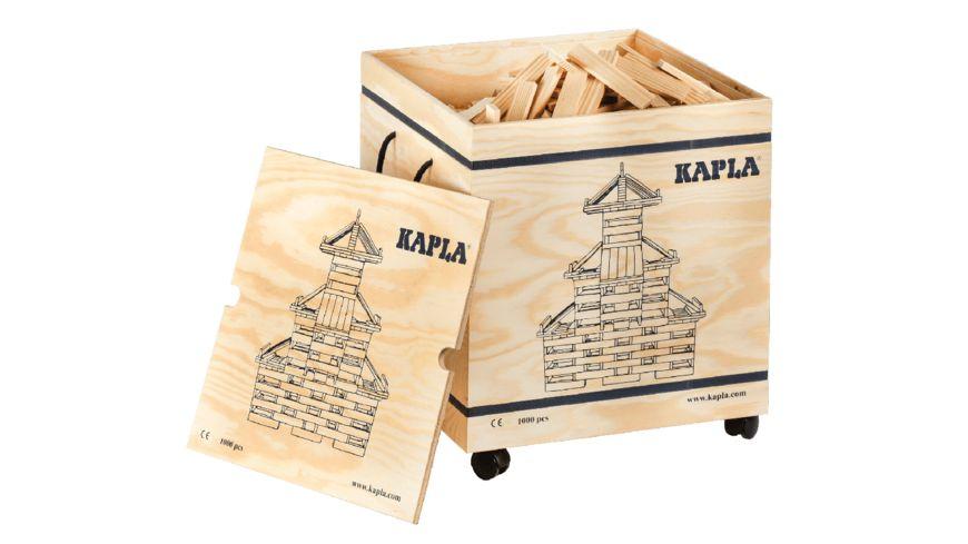 Kapla - Kasten, naturfarben, 1000 Teile