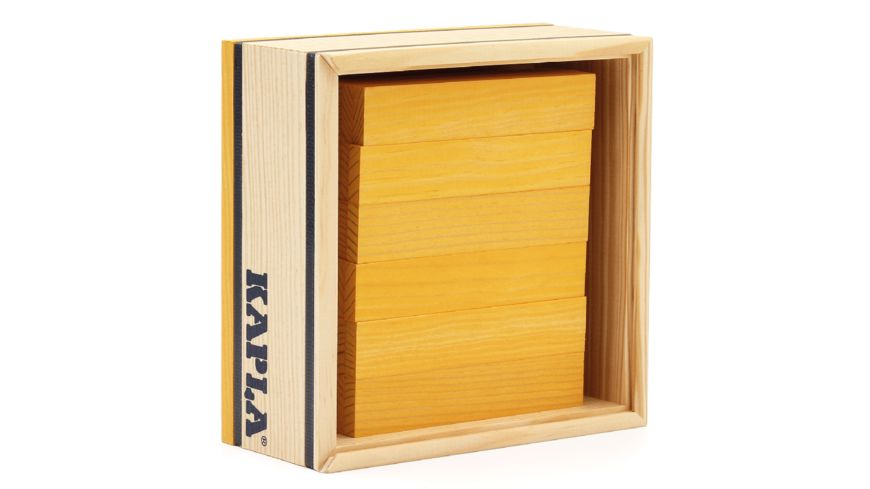 Kapla Holzbausteine gelb 40er Box
