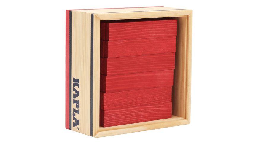 Kapla Holzbausteine rot 40er Box
