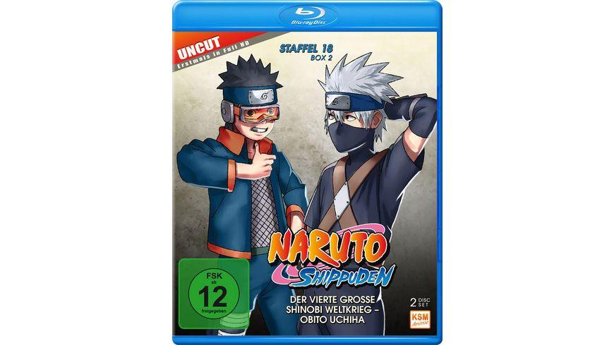 Naruto Shippuden Der vierte grosse Shinobi Weltkrieg Obito Uchiha Uncut Staffel 18 2 Folgen 603 613 2 BRs