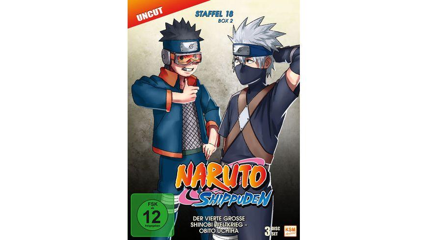 Naruto Shippuden Der vierte grosse Shinobi Weltkrieg Obito Uchiha Staffel 18 2 Folgen 603 613 3 DVDs