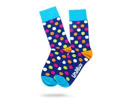 Unabux Socke Punkte bunt Unisex