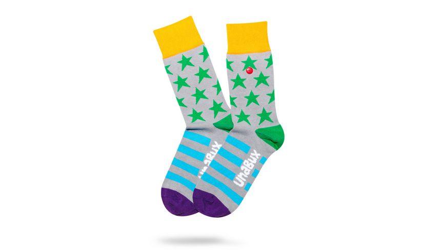 Unabux Socke Sterne Streifen Unisex