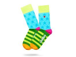 Unabux Unisex Socken Streifen Sterne