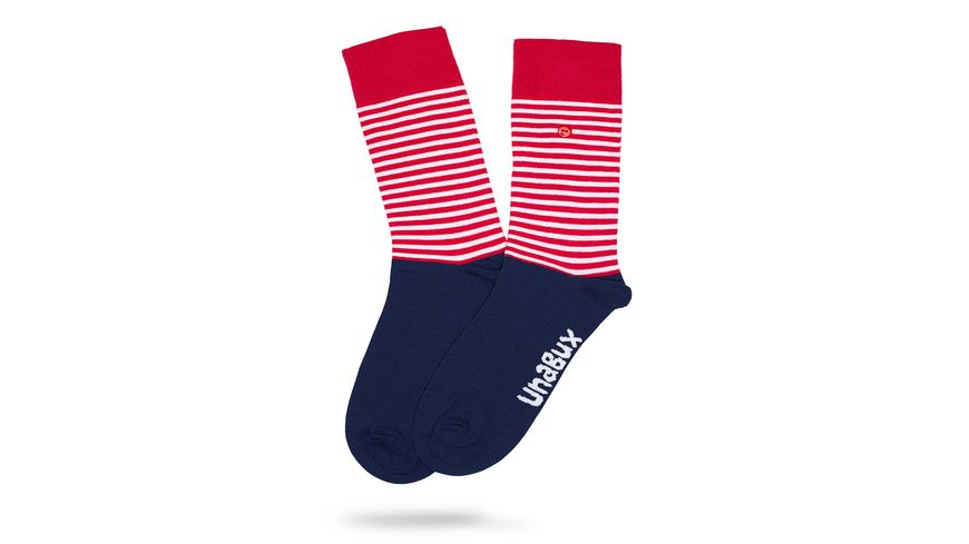 Unabux Socke Streifenmuster Unisex