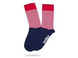 Unabux Unisex Socken Streifenmuster