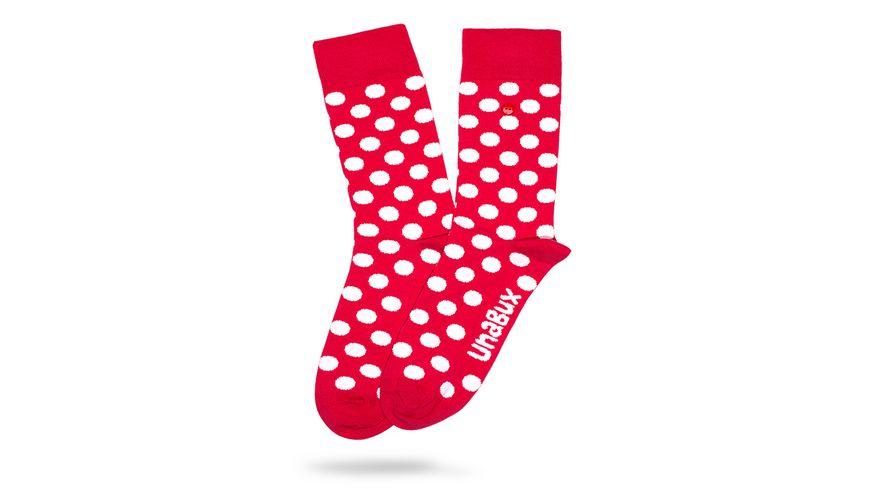 Unabux Socke Punkte rot Unisex
