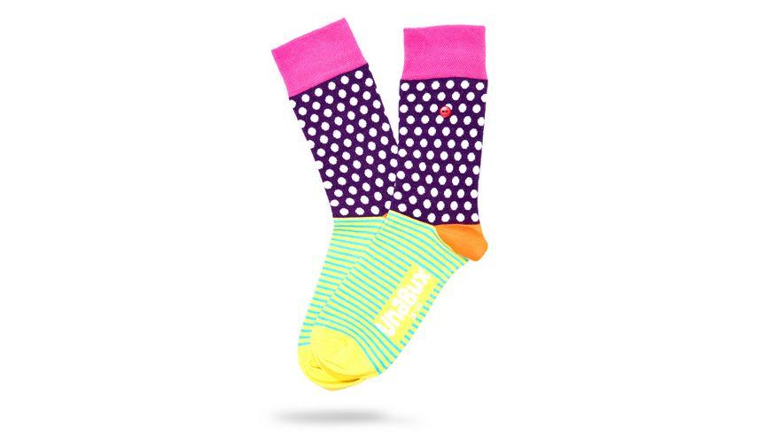 Unabux Socke bunte Punkte Unisex