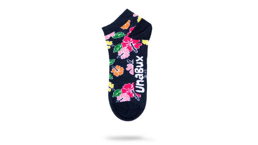 Unabux Unisex Sneaker Socken Herzen Blume 2er Pack
