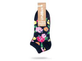 Unabux Sneakersocken Herzen Blume unisex 2er Pack