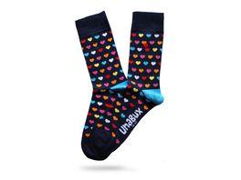 Unabux Unisex Socken Herzen bunt