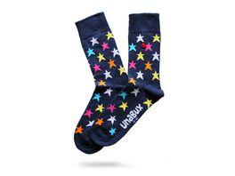 Unabux Unisex Socken bunte Sterne
