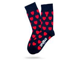Unabux Unisex Socken Herzen