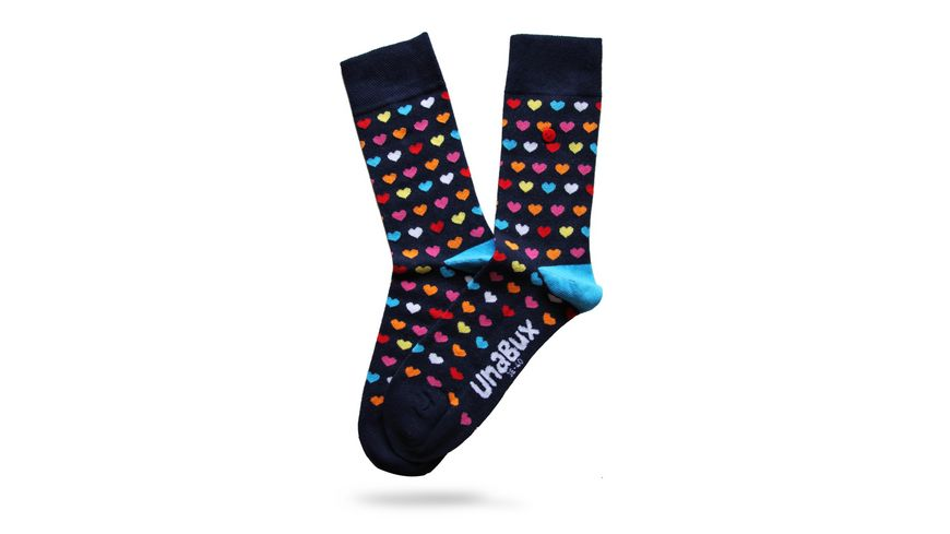 Unabux Socke Herzen bunt Unisex
