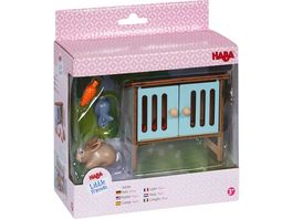 HABA Little Friends Hasenstall mit Hase Mimi