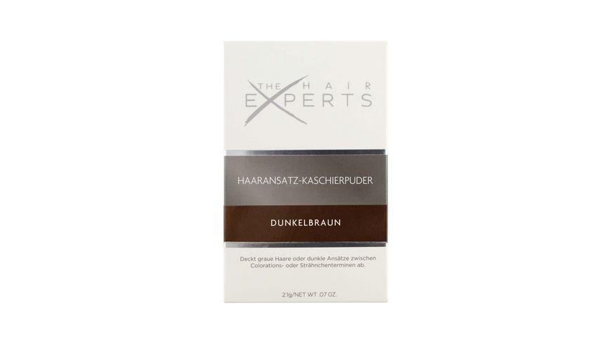 The HAIR EXPERTS Haaransatz Kaschierpuder Dunkelbraun