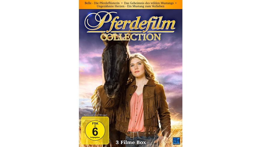 Pferdefilm Collection Belle Die Pferdefluesterin Das Geheimnis des wilden Mustangs Ungezaehmte Herzen Ein Mustang zum verlieben