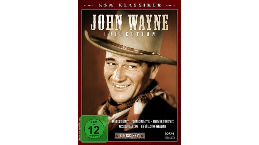 John Wayne Collection Land der Zukunft Freunde im Sattel Wasser fuer Arizona Aufstand in Santa Fe Die Hoelle von Oklahoma 5 DVDs