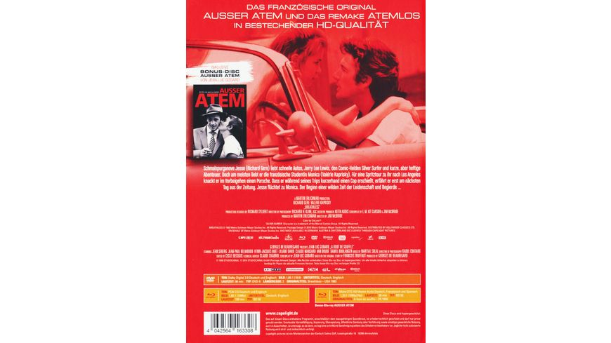 Atemlos LCE DVD Bonus Blu ray Mediabook