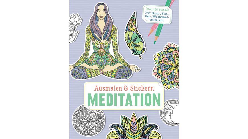 Ausmalen Stickern Meditation