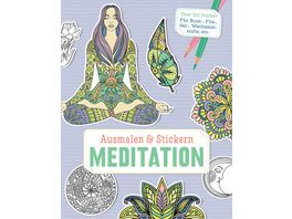 Ausmalen Stickern Meditation