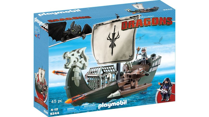 PLAYMOBIL 9244 Dragons Dragos Schiff
