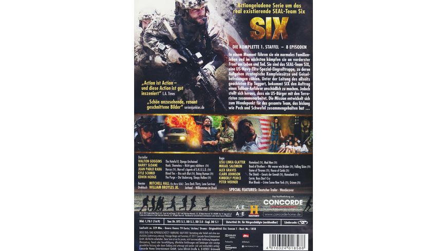 Six Die komplette 1 Staffel 3 DVDs