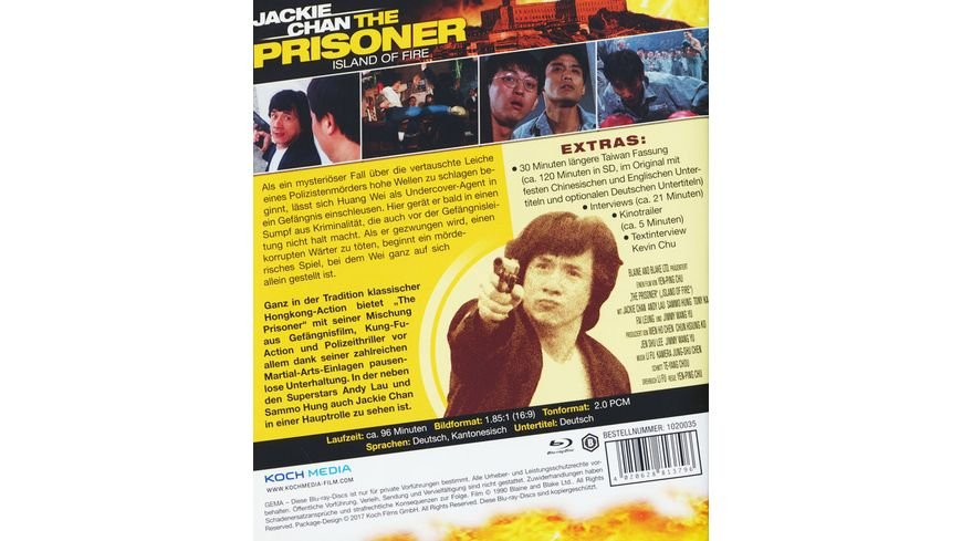 Jackie Chan The Prisoner DVD SE